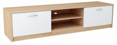 Шкаф столик RTV 2DC 160 см Белый -сонома комод