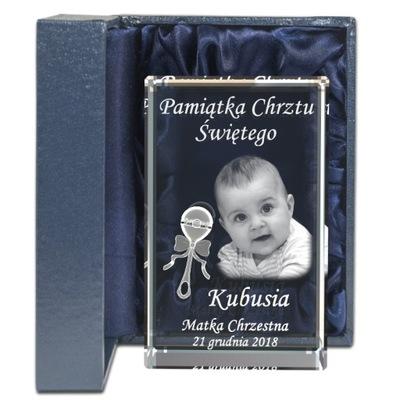 Pamiatku Krstu Svätého rytec fotografiu dieťaťa