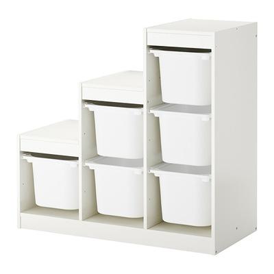 Икеа ТРУФАСТ стеллаж 6 контейнеров на игрушки Белый