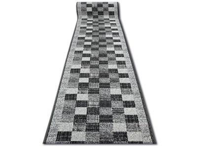 Chodníku BCF 100 cm PLETENÁ sivé ŠTVORCE *Q2020