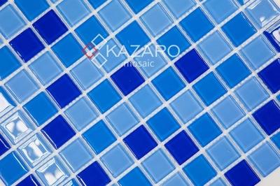 ! Мозаика стекло синяя 4 мм