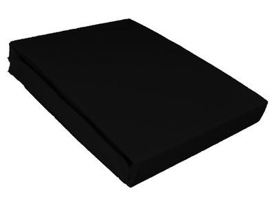 Plachta - Prześcieradło jersey 140x200 bawełniane czarne