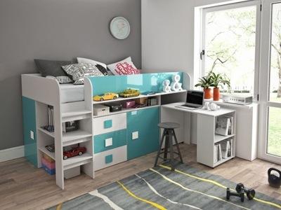 кровать кровать мезонин, рабочий стол, шкаф , комод Т1