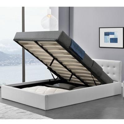 белое кровать МЯГКАЯ С контейнером 140х200
