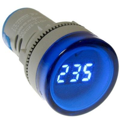indikátor LED svetlo modrá 230V 400V napätie meter