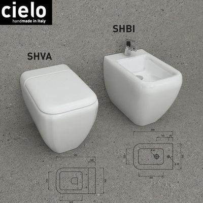 WC misa - CIELO SHUI STANDING WALL + voľná podlahová doska