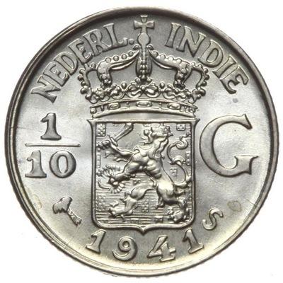 Индия Холл. 1 /10 Голденс 1941 S - серебро - MENNICZA