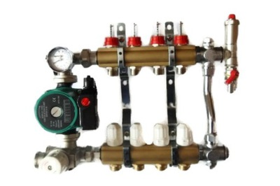 Podlahové vykurovanie - Zmiešavacie potrubie 8 s termostatickým ventilom