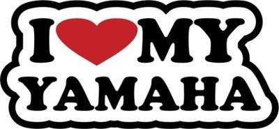 I LOVE MY YAMAHA - НАКЛЕЙКА 10CM