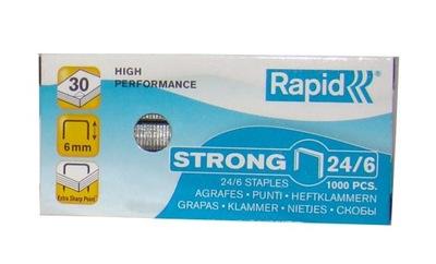 Zszywki Rapid Strong 24/6 1000 sztuk MOCNE