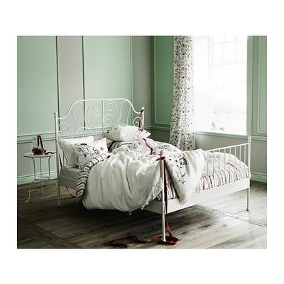 Ikea лейрвик каркас кровати 140x200 дно кровать белый купить
