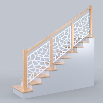 Balustrade zábradlie, drevené, kovové mreže 2,5