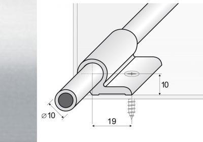 Стержень для лестничных клеток + ручки, 90см серебро A06