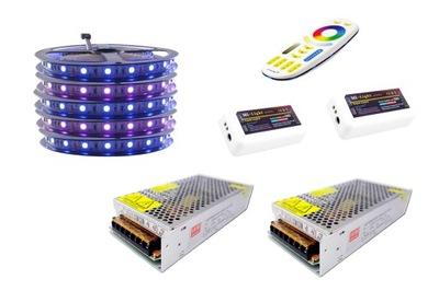 Osvetlenie nábytku LED pás - ZESTAW taśma LED 300 RGB 5050 Mi-Light PREMIUM 25m