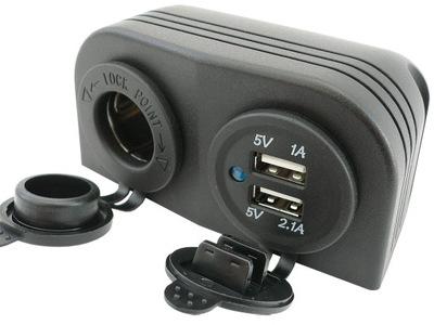 DISPOSITIVO DE CARGA USB 5V 3,1A RANURA HERMÉTICOS 12V 24V