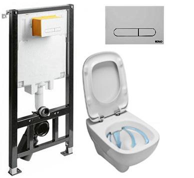 Set do kúpeľne a WC - KOLIESKA SLIM2 + WC STYLE RIMFREE + DESKA W / O