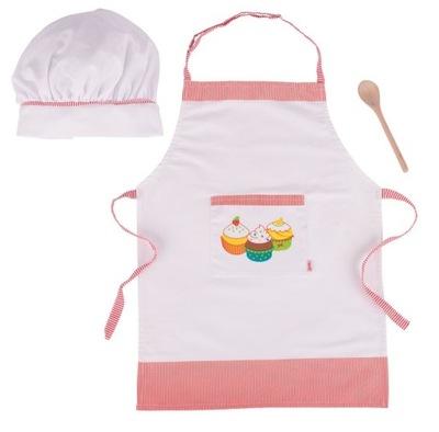 Príslušenstvo pre-deti Nastaviť málo kuchári Zástera kryt lyžice Goki
