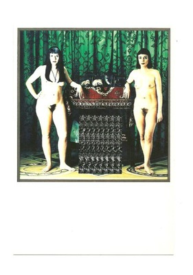 Pocztówka - Isabelle i Dominique oraz eksponaty