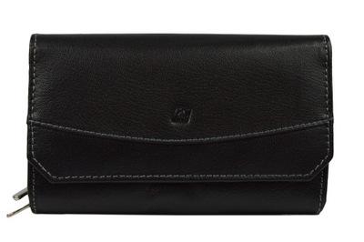 bf652ab5ba10a Duży portfel damski na zamek pojemny dużo kieszeni 7698932355 ...