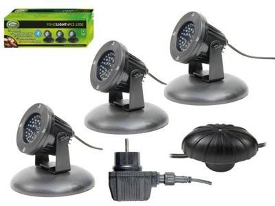 Aqua Nova LED LAMPY 3x 2.2 OSVETLENIE NA RYBNÍK