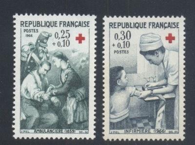 FRANCJA Mi. 1568-1569 CZYSTE** CZERWONY KRZYŻ