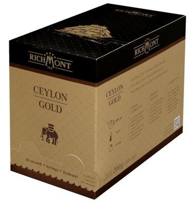 чай черная Richmont Ceylon Gold 50 пакетиков