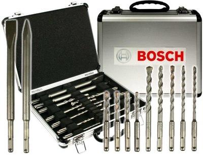 комплект 11 СВЕРЛ и ЗУБИЛ SDS-плюс Bosch в чемодане