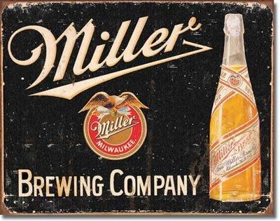 металлический плакат реклама с пивом ??? Миллер подарок