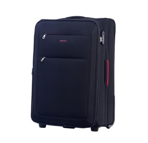 3f635d3fb9885 Duża walizka podróżna na kółkach Puccini miękka 7485568118 - Allegro.pl