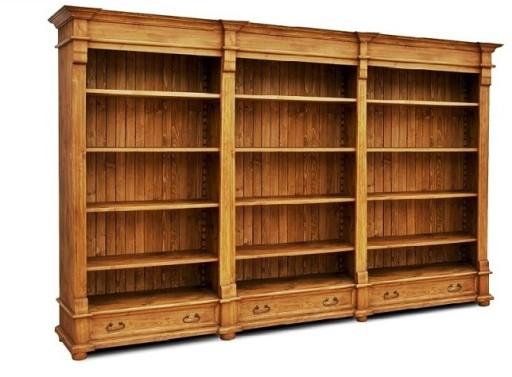 Drewniana Bibliotekaregał Na Książkiregał Retro