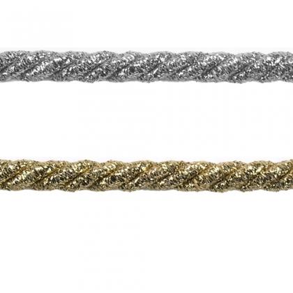 Sznurek Ozdobny 1m kolory 0,5cm złoty srebrny