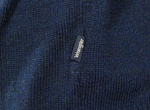 WRANGLER sweter męski navy W CREW KNIT _ L 40 8791766747 Odzież Męska Swetry HJ CYHAHJ-5
