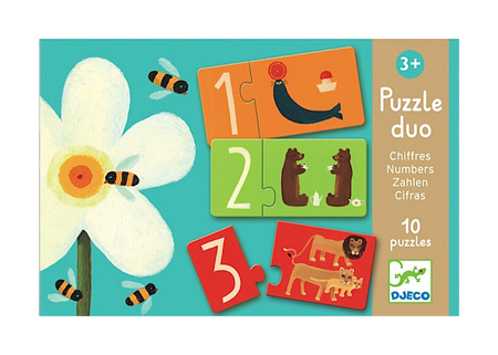 DJECO Puzzle DUO CYFRY  dla dzieci od 2 lat