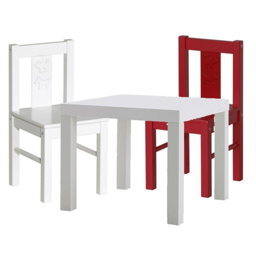 Ikea 2 Krzesełka Kritter Kolory Mamut Stolik Lack