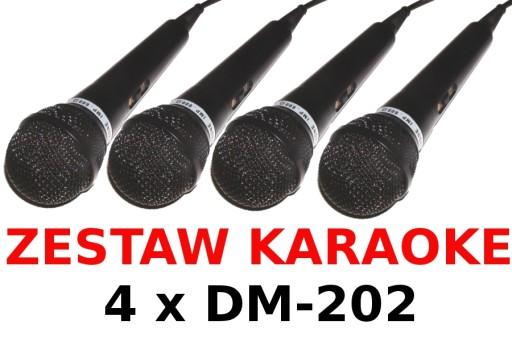 Отличный комплект для караоке 4 x микрофон DM-202 купить с доставкой из Польши с Allegro