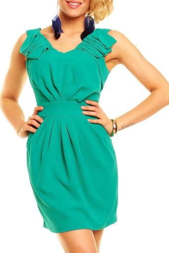 Sukienka koktajlowa zielona - 36 1742