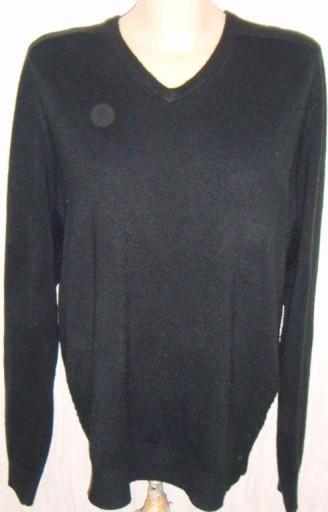 SWETER MĘSKI XL 46-48 CZARNY ACRYL guise! 7464140199 Odzież Męska Swetry XR DDAFXR-7