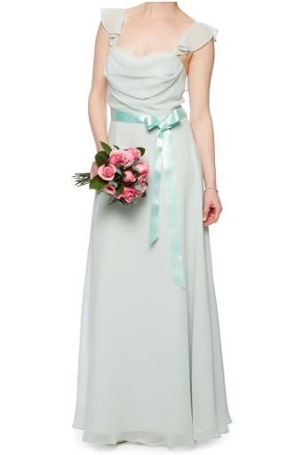 Sukienki wizytowe maxi miętowe - 38 1225