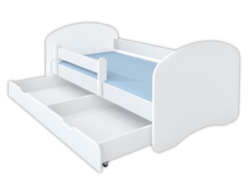 łóżko Młodzieżowe 18090 Białe Materac Promocja 6095606596