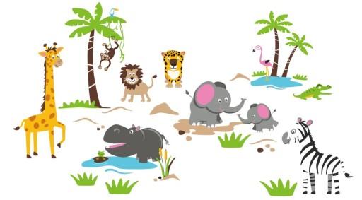 Naklejki ścienne Dla Dzieci Zoo Zwierzęta Sowy Xxl 5481494287