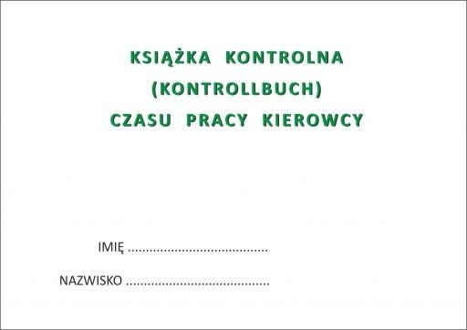 Książka czasu pracy kierowcy KONTROLLBUCH PL-DE