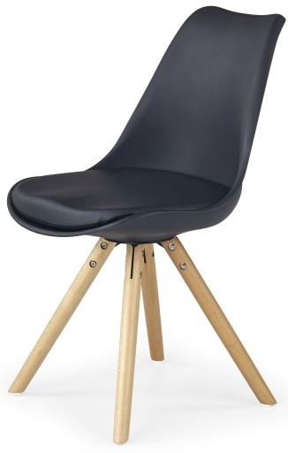 Nowoczesne Krzesło Drewniane Do Stołu Czarne