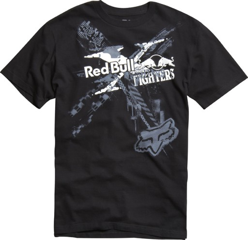 T-shirt FOX Red Bull X-Fighters black   tu L