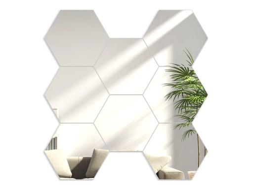 Nowoczesne Lustro Dekoracyjne Akrylowe Hexagony
