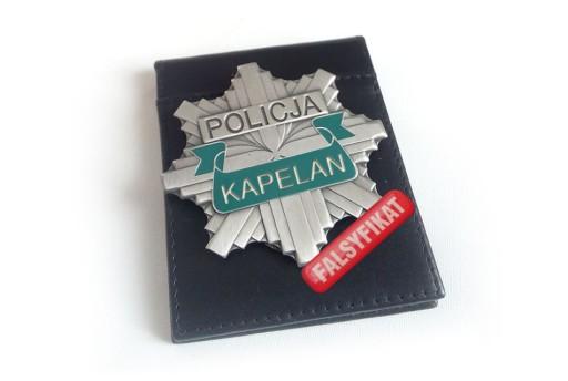 ODZNAKA Policyjna KAPELAN   GWIAZDA POLICJA 997