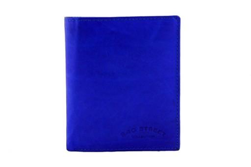 95351770aa262 Skórzany portfel męski Bag Street niebieski 8 kart 7695286508 ...