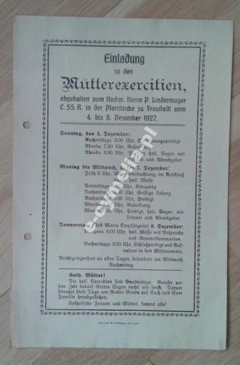 1927 Fraustadt Wschowa Rekolekcje dla matek