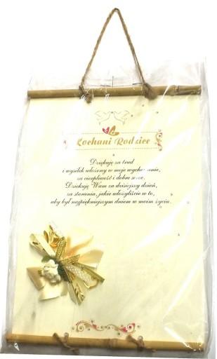 Dyplom Podziękowanie Dla Rodziców ślub życzenia
