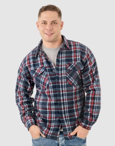 Теплая Флисовая Рубашка Мужская Мягкий 2247-6 XXL купить с доставкой из Польши с Allegro