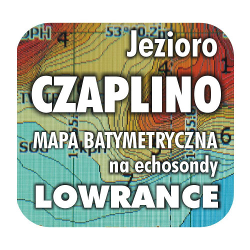 Jezioro Czaplino mapa batymetryczna Lowrance BG